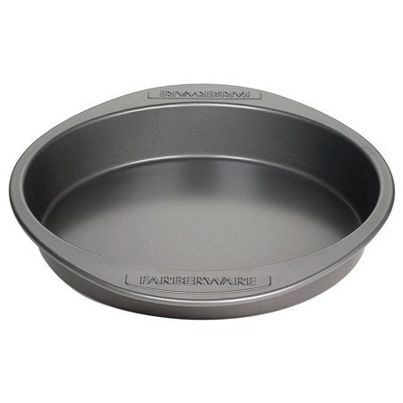 Farberware Nonstick Bakeware 9-Inch Round Cake Pan, Gray ()
