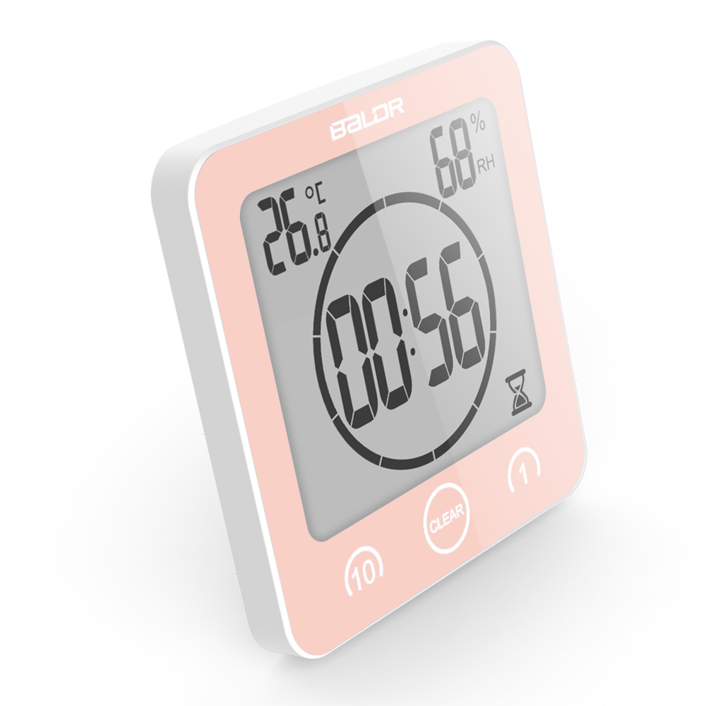 Baldr Digital Timer Shower Clock, Pink by Baldr
