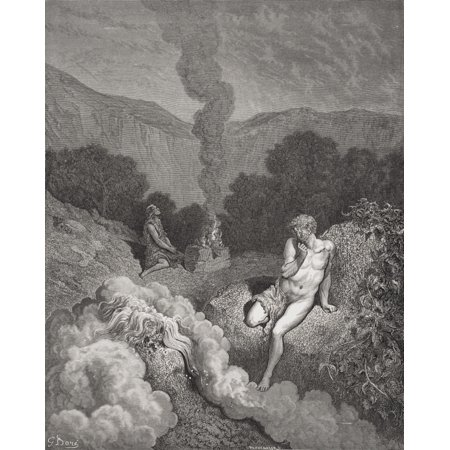 Engraving From The Dore Bible Illustrating Genesis Iv 3 To 5 Cain And Abel Offering Their Sacrifices By Gustave Dore 1832-1883 French Artist And Illustrator Canvas Art - Ken Welsh Design Pics (13 x 1
