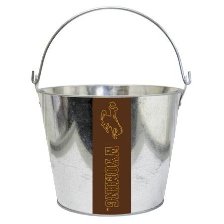 Wyoming Cowboys Metal Drink Bucket