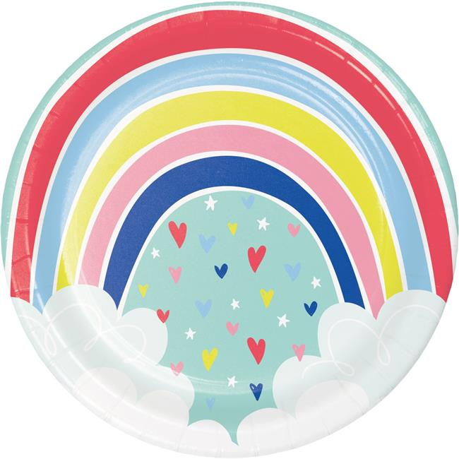 Creative Converting 339807 Over the Rainbow Paper Plates, 8 Count - image 1 de 1