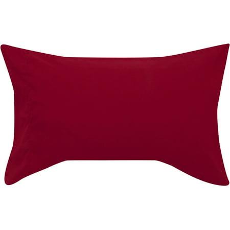 Mainstays Microfiber Pillowcase Set, King, Red Sedona