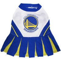 Pets First NBA Golden State Warriors Cheerleader, 3 Sizes Pet Dress Available. Licensed Dog Outfit