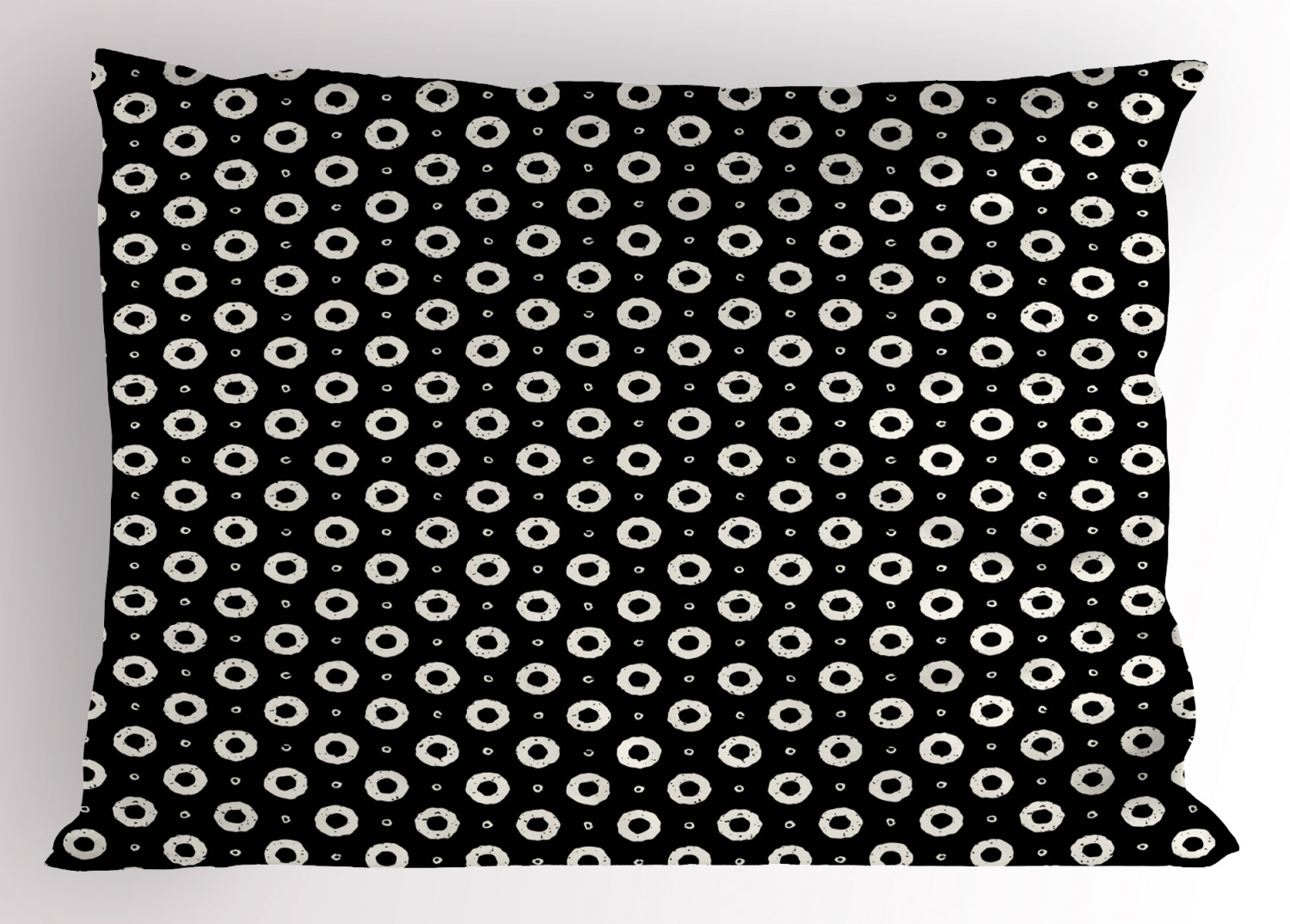 Black And White Pillow Sham Hand Paint Style Small And Big