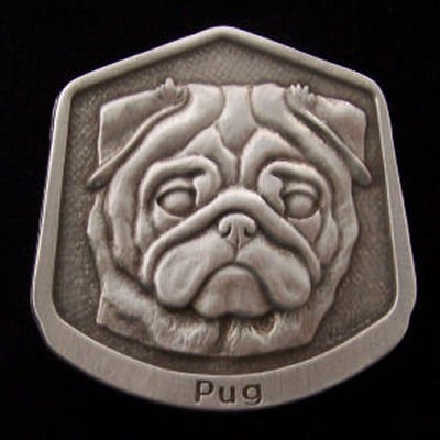 Pug Fine Pewter Dog Breed Ornament The sculpted image of your pet is surrounded with a wreath of holly and ivy. You will treasure this ornament for years to come. hey are made of Fine Pewter and come in a Christmas gift box for storing. Lindsay Claire is a Canadian manufacturer of Fine Pewter Gifts and Collectibles.  Each pewter item is cast in our shop from fine pewter and meticulously hand polished to a satin finish.Ornament is approximately 3  and has a satin cord attached for hanging.