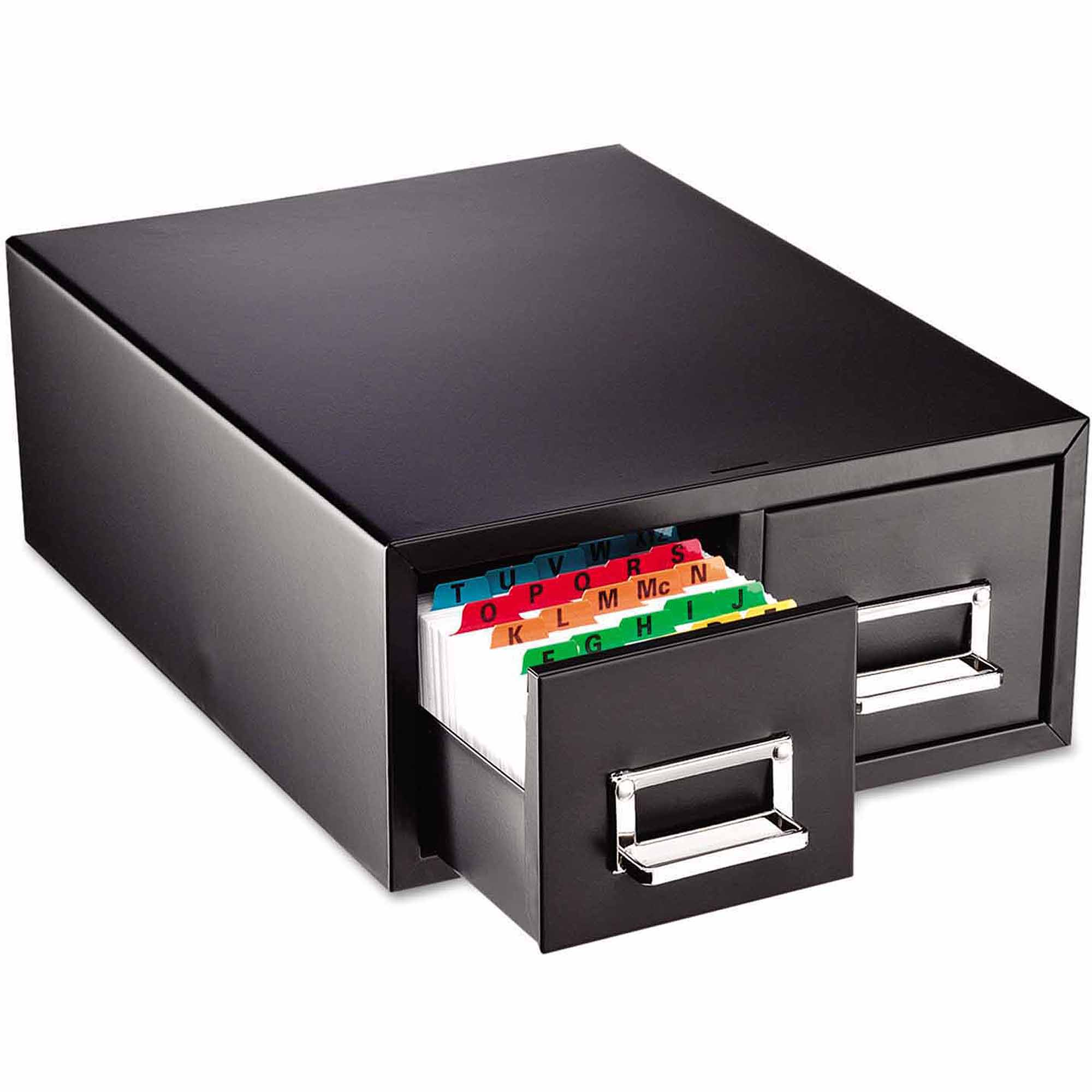 "SteelMaster Drawer Card Cabinet, Holds 3,000 4"" x 6"" cards"
