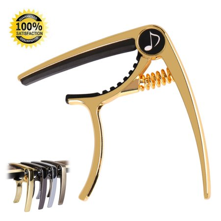 Donner DC-2 One Handed Trigger Guitar Capo for Electric and Acoustic Guitars Black