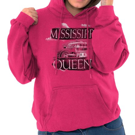 Brisco Brands Mississippi Queen Riverboat MS Pullover Hoodie For Women - Mississippi Queen Riverboat