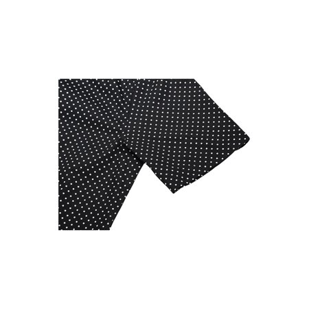 Men Short Sleeves Button Up Cotton Polka Dots Shirt Black S - image 2 de 7
