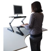 Workez Standing Desk Conversion Kit Affordable Adjule Height Angle Laptop Sit To Stand Up Desktop