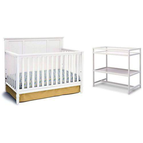 Delta Children Epic 4-in-1 Convertible Crib with BONUS Changing Table, Choose Your