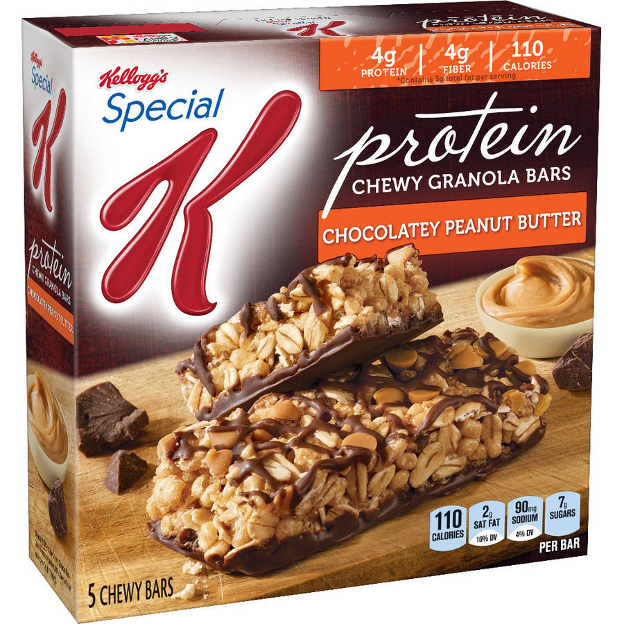 Kellogg's Special K Protein Chocolatey Peanut Butter Granola Snack Bars, 5 count, 4.76 oz