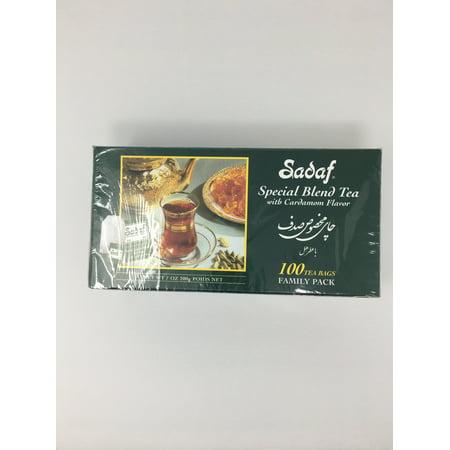 Cardamom Tea - Sadaf Special Blnd Tea With Cardamom Flavor, 100-Count