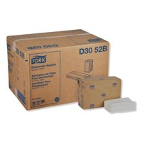 "Tork Universal Tall-Fold Dispenser Napkins, 1-Ply, 6"" x 13.5"", White, 10000/Carton -TRKD3052B"