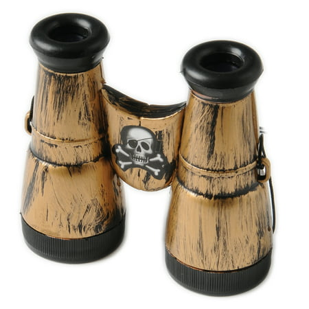 Kid Fun Plastic Pirate Binoculars Accessory Costume Prop, Bronze, 4