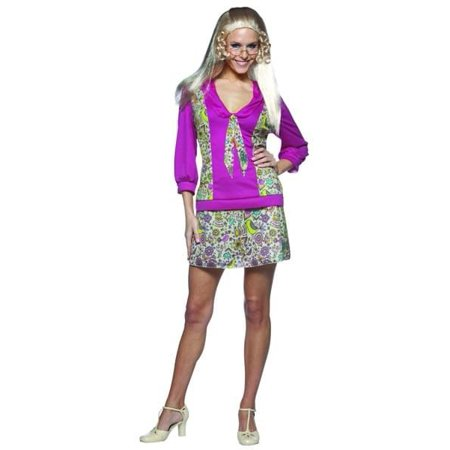 Jan Brady Bunch Hippie 70'S Tv Show Female Costume Dress Adult Standard