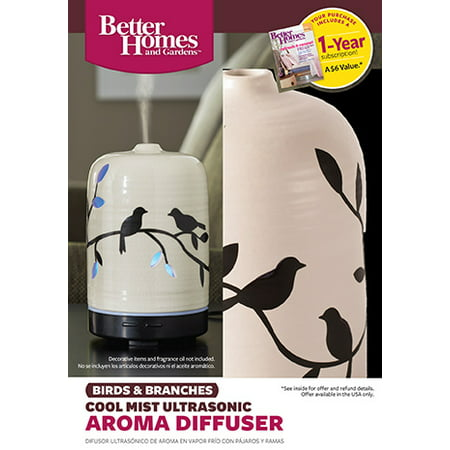 Better homes and gardens 100 ml essential oil diffuser birds and branches best oil diffusers Better homes and gardens diffuser