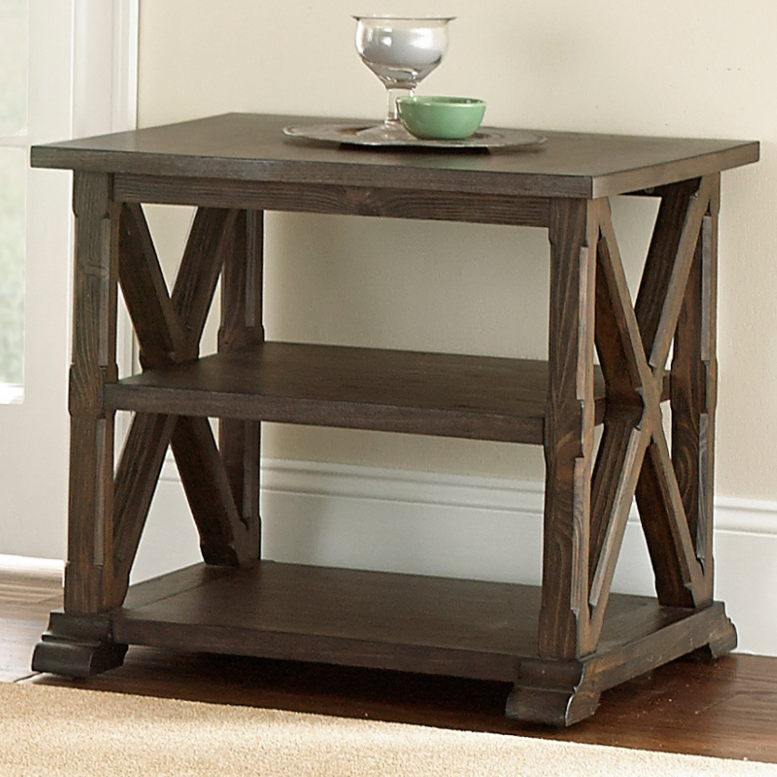 Steve Silver Southfield End Table - Weathered Pine