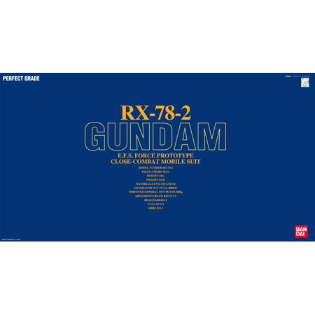 Bandai Hobby Mobile Suit Gundam RX-78-2 Gundam PG 1/60 Model