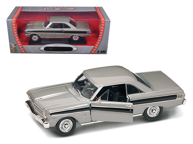 1964 Ford Falcon Diecast Car Model 1 18 Grey Die Cast Car by Road Signature by Road Signature