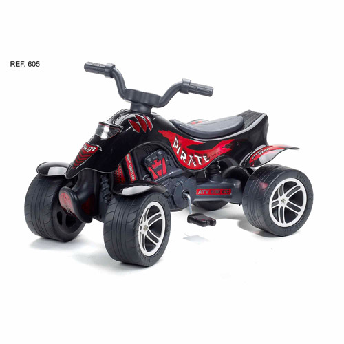 Falk Pedal-Powered Quad, Pirate, Black