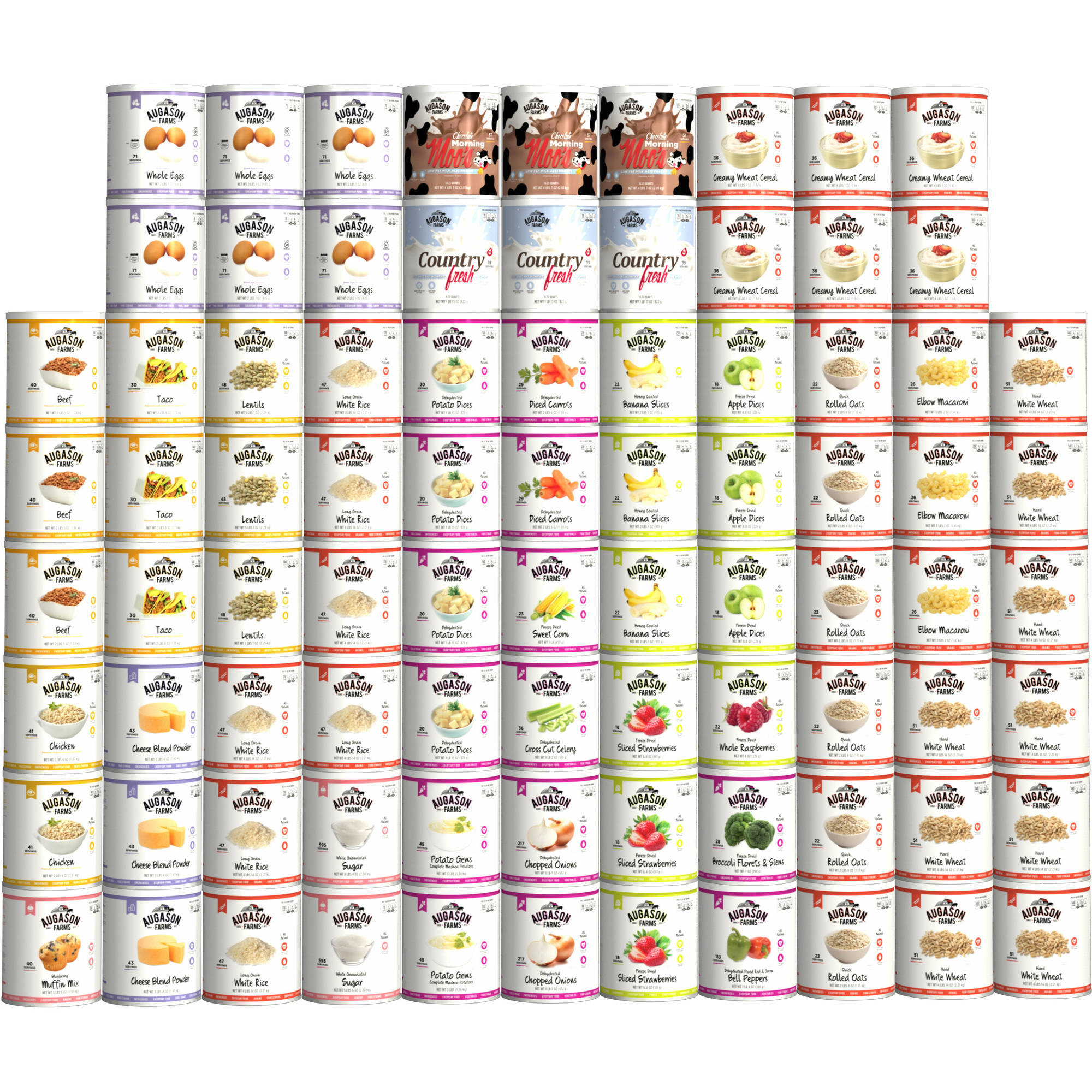 Augason Farms 1-Year, 1-Person Emergency Food Storage Kit, 84 count