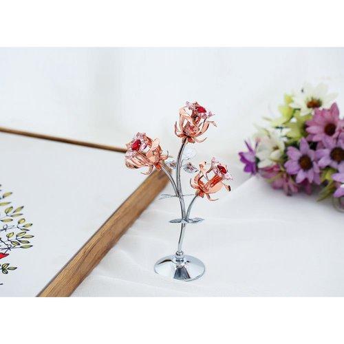 Matashi Crystal Rose Flower Tabletop Ornament Sculpture Walmart Com Walmart Com