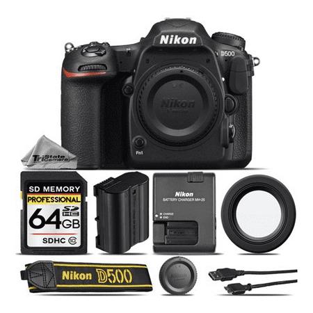 Nikon D500 DSLR Camera Body Built-In Wi-Fi, 4K UHD Video Recording - Saving Kit - International Version