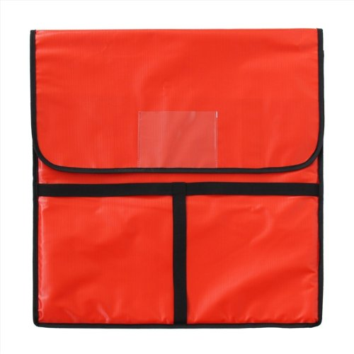 New Star 50110 Insulated Pizza Delivery Bag, 22 by 22 by 5-Inch, Red by New Star Foodservice Inc.