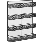 Best Choice Products 4-Tier Large Wall Mounted Wire Spice Rack Organizer, Black