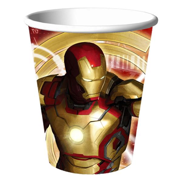 Iron Man 3 9oz Paper Cups (8ct)