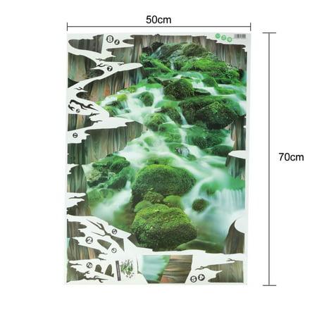 3D Stream Floor/Wall Sticker Removable Mural Decals Vinyl Art Home Decoration - image 1 de 5