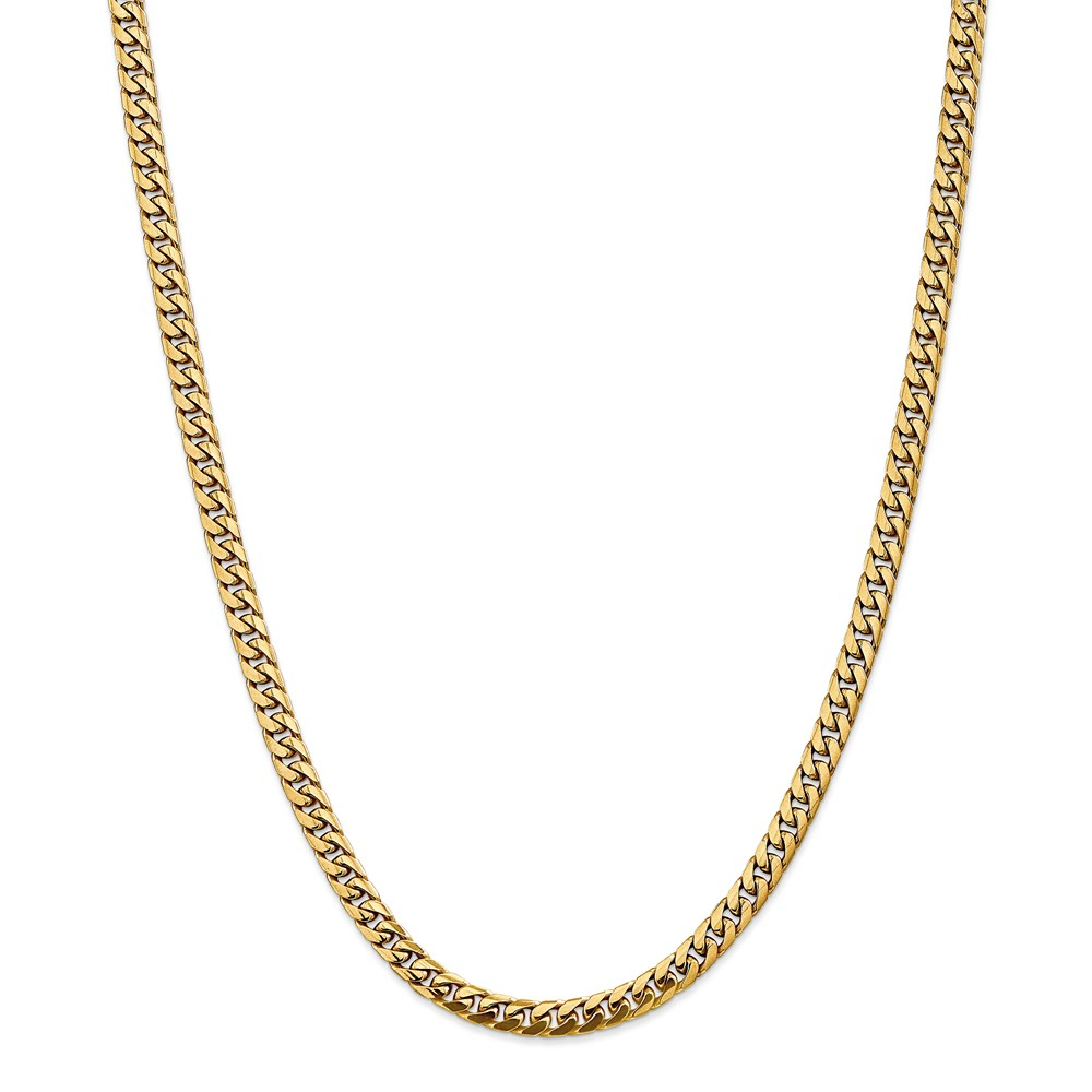 "14K Yellow Gold 5mm Domed Curb Bracelet or Anklet -8"" (8in x 5mm) by"
