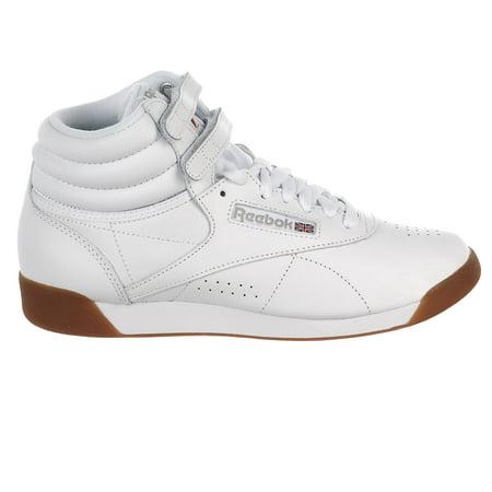 c29895c31dd Reebok - Reebok Freestyle Hi Walking Shoe - White Gum - Womens - 6 -  Walmart.com