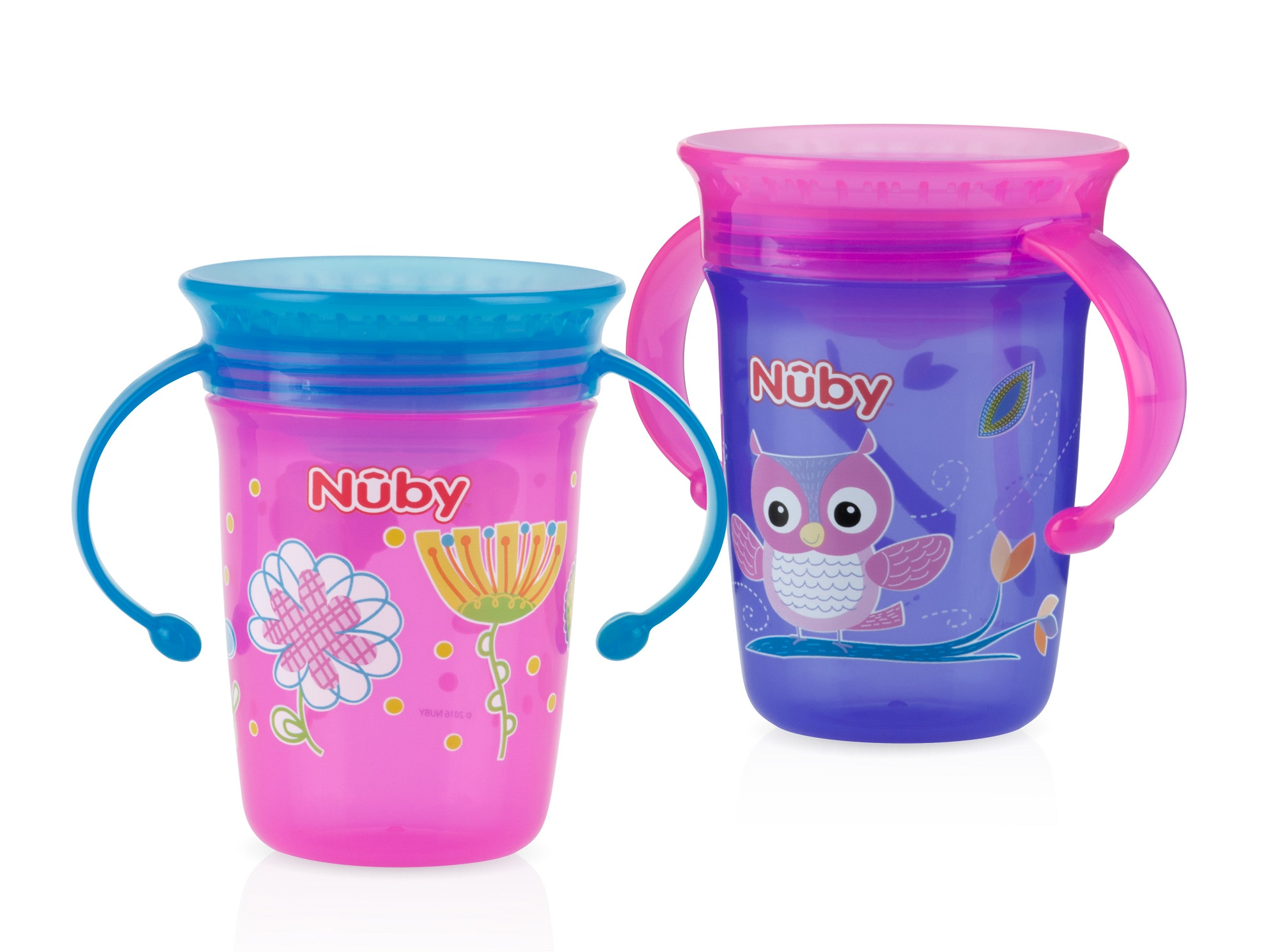 Nuby 360 Wonder Spoutless Trainer Sippy Cup 2 pack by Nuby