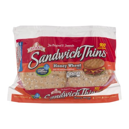 Arnold Sandwich Thins Honey Wheat Rolls - 8 CT - Walmart.com