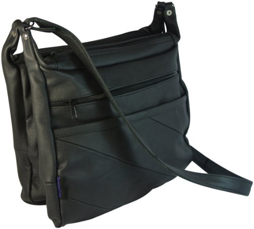 Texcyngoods Leather Concealed Gun Carry Purse Messenger B...