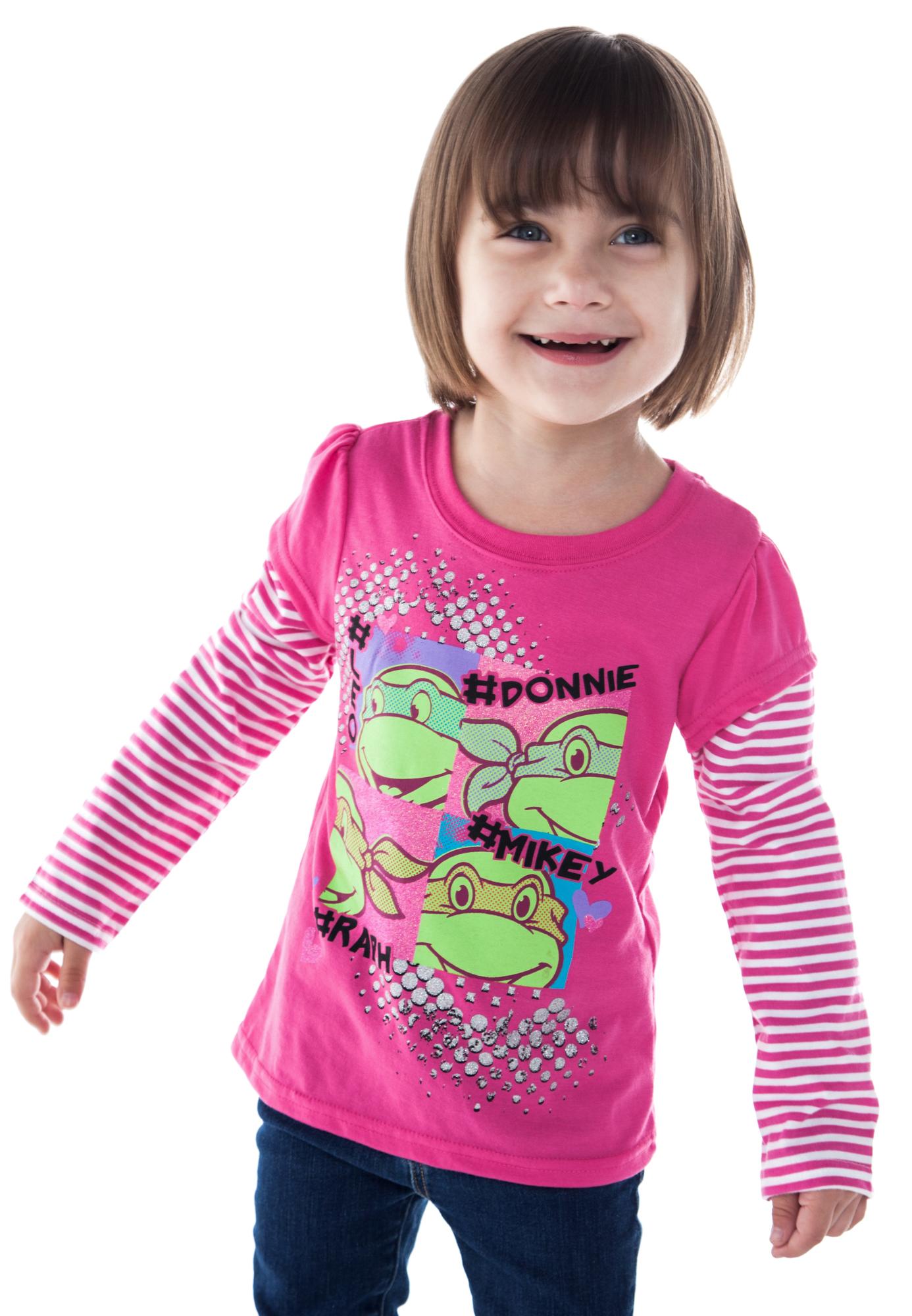 Toddler Girls Teenage Mutant Ninja Turtles Long Sleeve Shirt - Pink