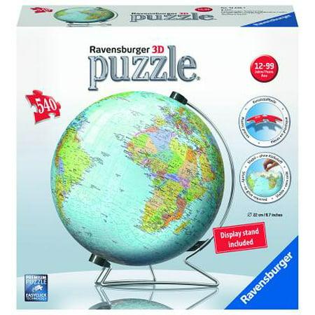 Ravensburger The Earth 3D World Globe Puzzle: 540 Pcs (3d Globe Puzzle)