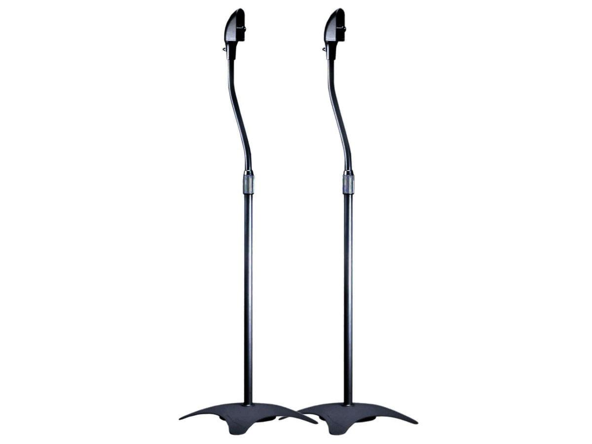 Adjustable Height 9 lb. Capacity Speaker Stands (Pair), Black - Walmart.com