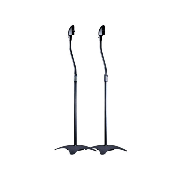 Adjustable Height 5 lb. Capacity Speaker Stands (Pair), Black