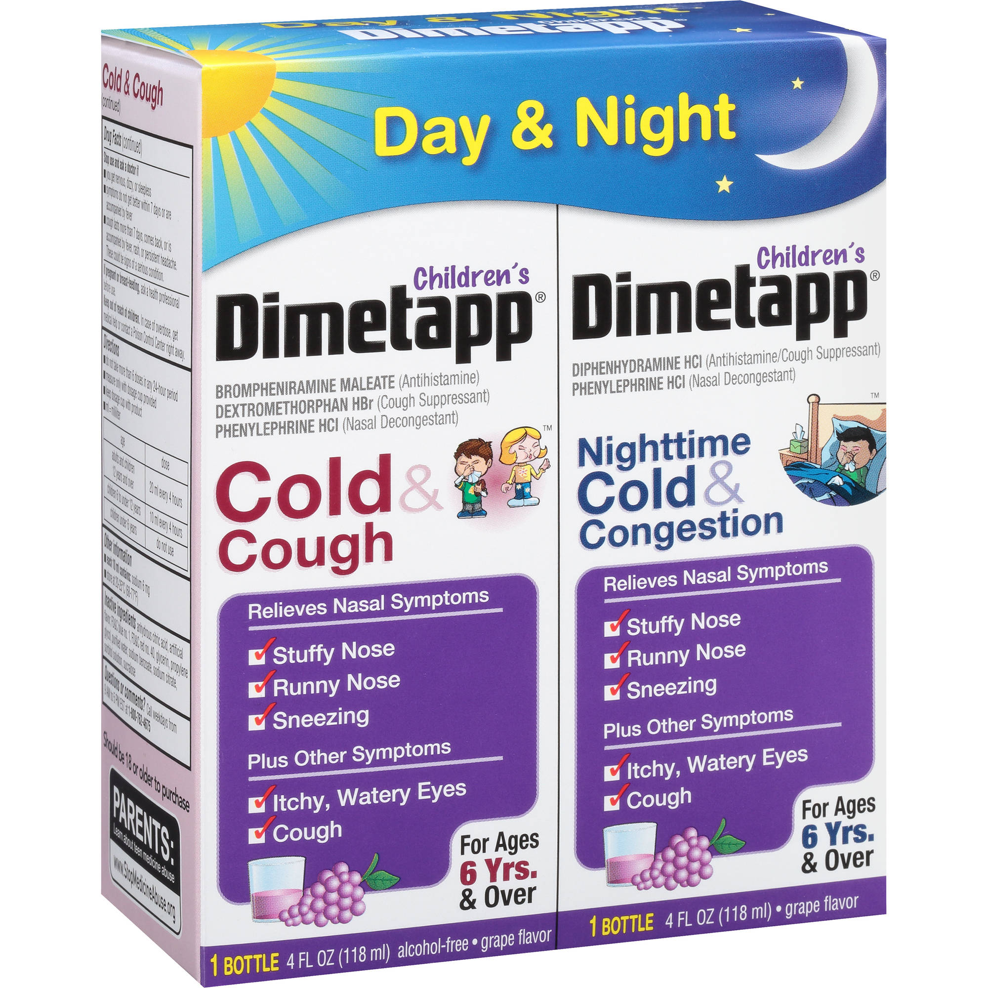 Children's Dimetapp Cold & Cough Antihistamine, Cough Suppressant & Decongestant Liquid 8 fl oz