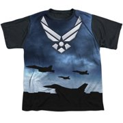 Air Force - Take Off - Youth Short Sleeve Black Back Shirt - Small