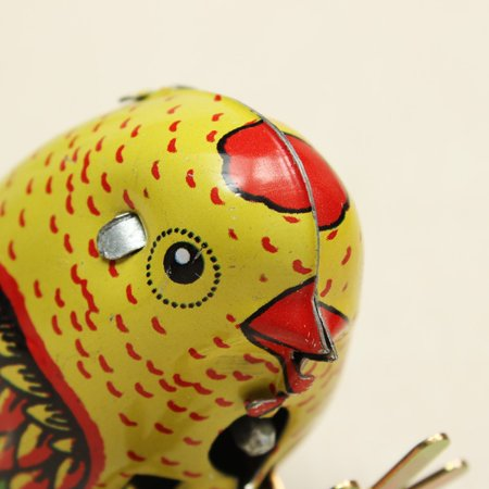 Wind Up Chick Tin Toy Clockwork Spring Pecking Chick Vintage Style - image 2 of 4