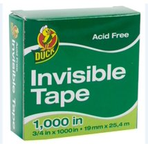 Adhesive Tape: Duck Invisible Tape