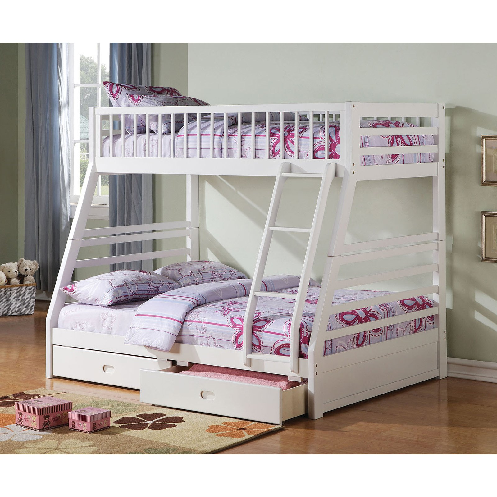 Acme Furniture Jason Twin over Full Bunk Bed with Underbed Drawer