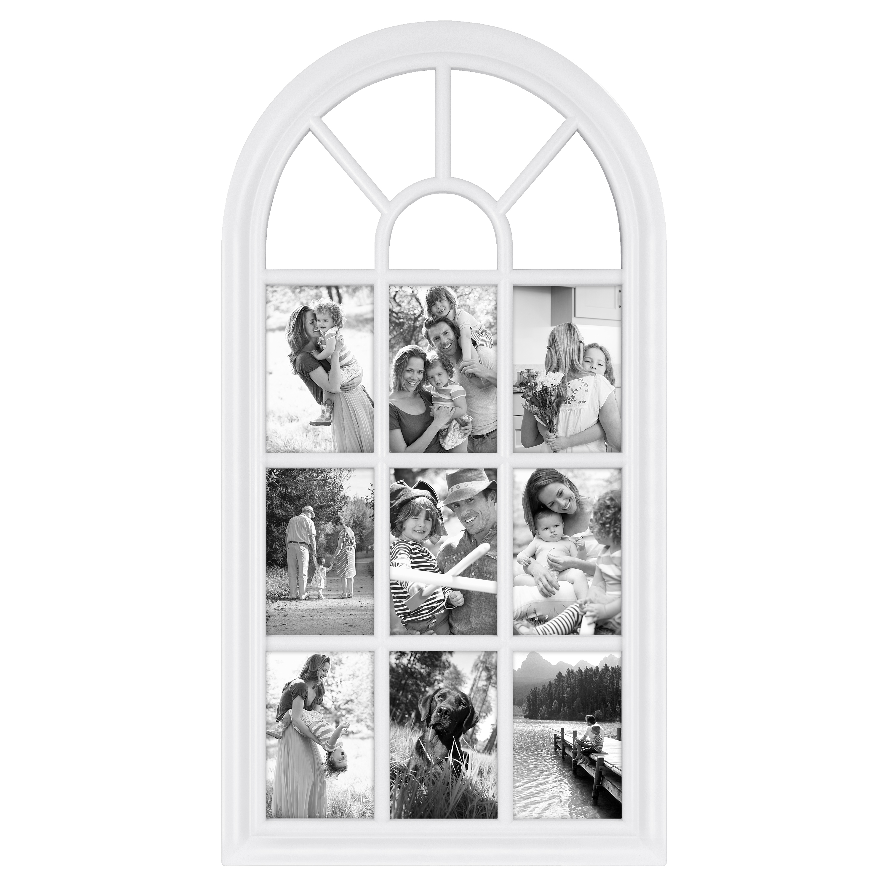 28 X 14 White Arched Window Pane Collage Picture Frame Walmartcom
