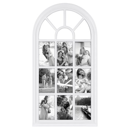 28 X 14 White Arched Window Pane Collage Picture Frame Walmart