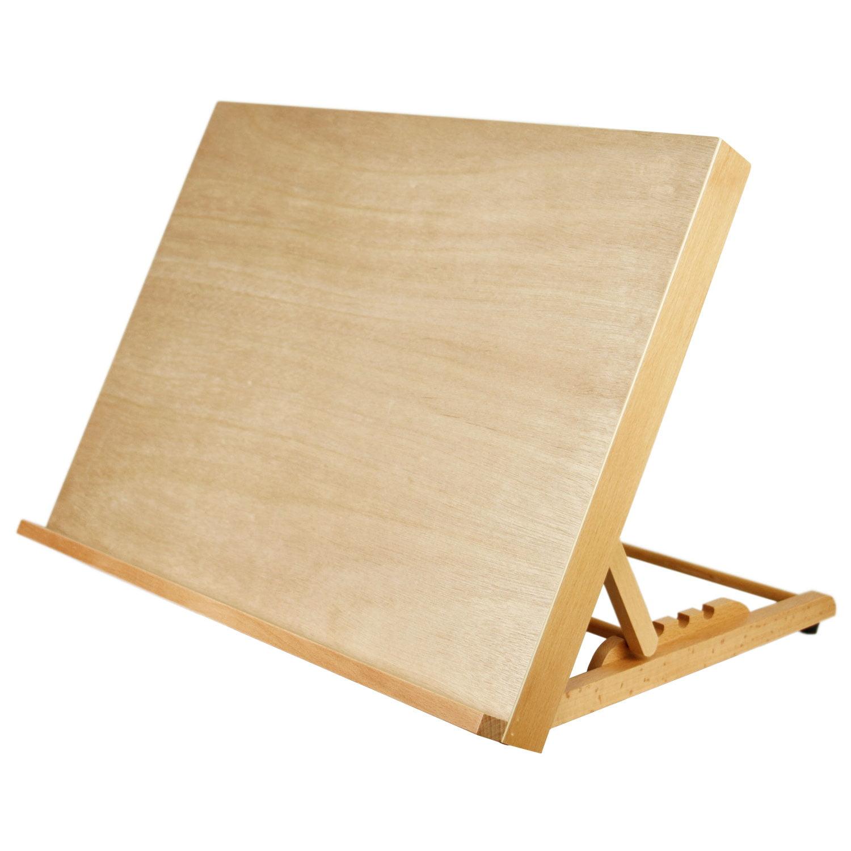 "U.S. Art Supply Large 18-1/2"" Wide x 14-1/8"" (A3) Tall Artist Adjustable Wood Drawing Board"