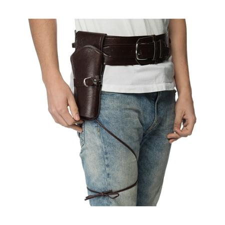 Costume Gun Holster (Western Cowboy Heavy Gauge Brown Gun Holster Costume)